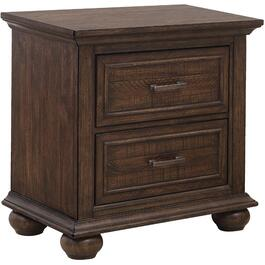 2 Drawer Dark Brown Chatham Park Night Table thumb