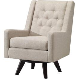 Linen Kale Accent Swivel Chair thumb