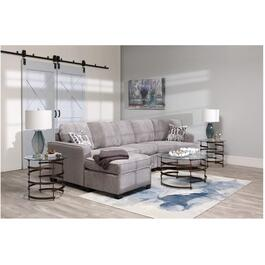 2 Piece Grey Euphoria Sofa Sectional thumb