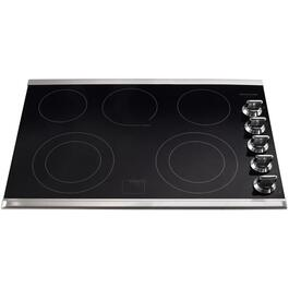 "30"" Black/ Stainless Steel Built-In Electric Cooktop thumb"