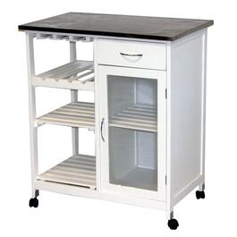 White Chef Kitchen Trolley/Cart thumb