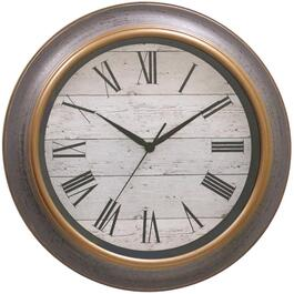"16"" Round Grey Barnboard Wall Clock thumb"