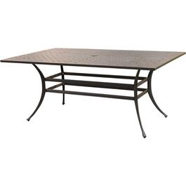 "70"" x 40"" Tuscany Rectangular Cast Aluminum Dining Table thumb"