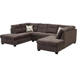 3 Piece Davos Charcoal Sofa Sectional thumb