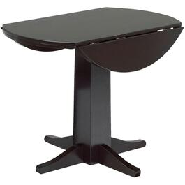 Espresso Lauren Round Dining Table, with Drop Leaf thumb