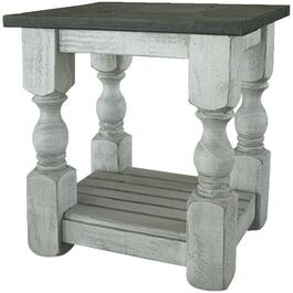 Stone Rectangular Chairside Table thumb