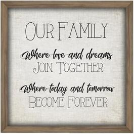 "26"" x 26"" Our Family Forever Framed Plaque thumb"