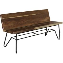 Taos Dining Bench, with Back Rest thumb