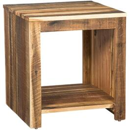 Antique Natural Square End Table thumb