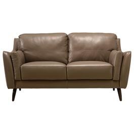 Taupe Paive Leather Loveseat thumb