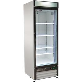 23 cu. ft. Stainless Steel/Clear 1 Door Commercial Grade Fridge thumb
