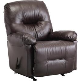 Zaynah Walnut Leather Match Rocker Recliner thumb