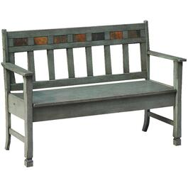 Green Santa Fe Storage Bench thumb