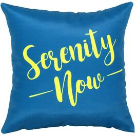 "16"" Square ""Serenity Now"" Throw Pillow thumb"