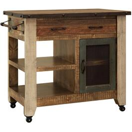 Multi-colour Antique Kitchen Island thumb
