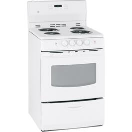 "24"" White Self Cleaning Coil Top Electric Range thumb"