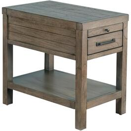 Cadet Grey Glasgow Rectangular Chairside Table thumb