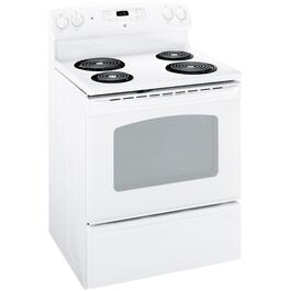 "30"" White Coil Top Electric Range thumb"