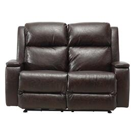Chocolate Brown Power Recliner Loveseat thumb