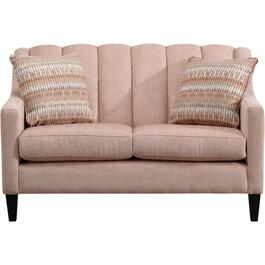 April Analogy Blush Loveseat thumb