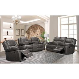 Polished Grey Power Motion Recliner Loveseat thumb