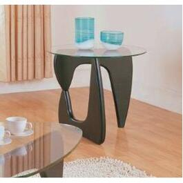 Espresso Chorus Round End Table thumb