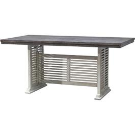 White Base and Grey Top Stone Bar Table thumb