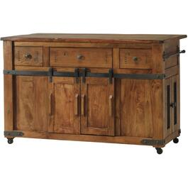 Parota Kitchen Island, with Casters thumb