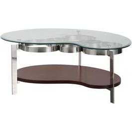 Wood/Steel/Glass Mars Cocktail Table thumb