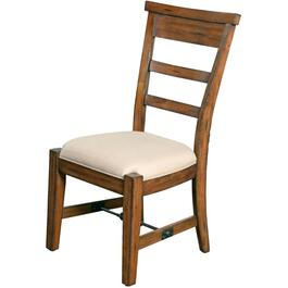 Vintage Mocha Tuscany Wood Side Chair, with Cushion Seat thumb