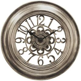 "12"" Round Pewter Cutout Wall Clock thumb"