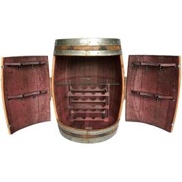 Wine Barrel Cabinet, Holds 12 Bottles thumb