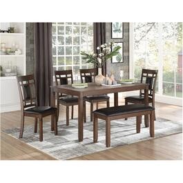 6 Piece Wooden Salton Rectangular Dinette Set thumb