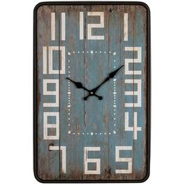 "13"" x 20"" Metal Antiquite Wall Clock thumb"