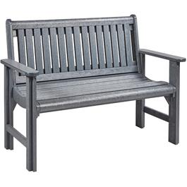 Grey Plastic Garden Bench thumb