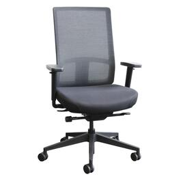 Black Mesh High Back Office Chair, with Upholstered Seat thumb