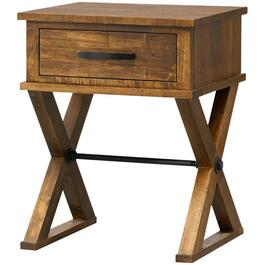 1 Drawer Pecan Ancaster Night Table thumb