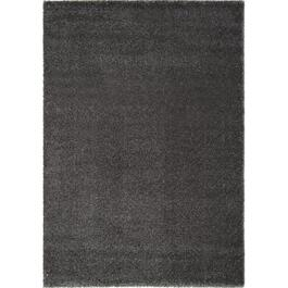 6' x 8' Boulevard Soft Shiny Dark Grey Area Rug thumb