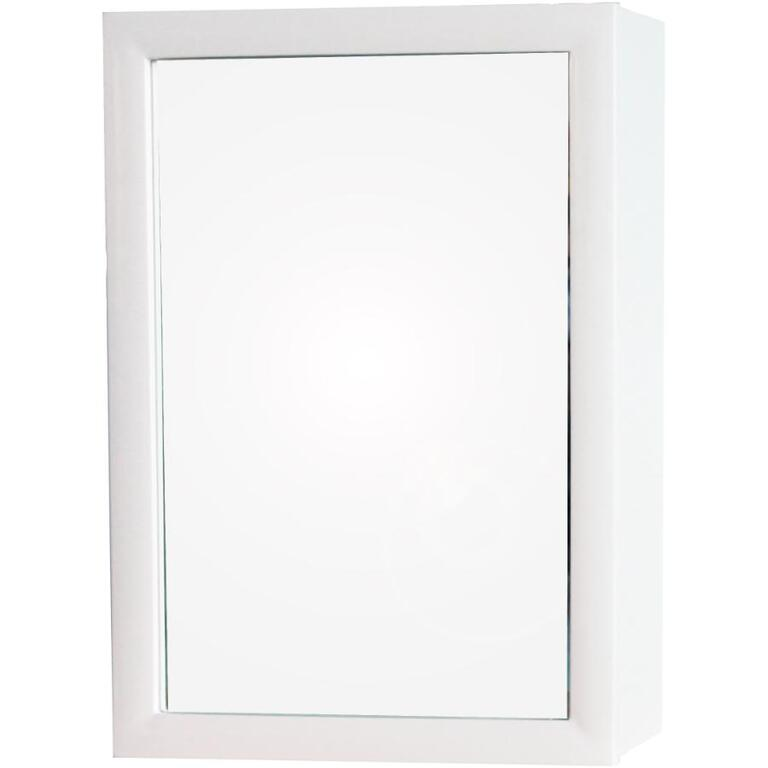 14 X 20 One Swing Door White Frame Mirror Medicine Cabinet Home