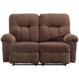 Ares Chocolate Space Saver Recliner Loveseat thumb