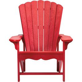 Red Recycled Plastic Adirondack Chair thumb