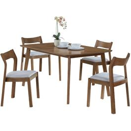 5 Piece Wooden Cooper Rectangular Dinette Set thumb