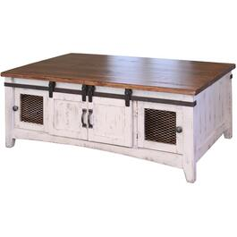 White Pueblo Rectangular Cocktail Table thumb