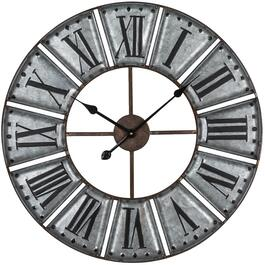"27"" Galvanized Metal Ezra Wall Clock thumb"