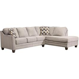 2 Piece Zena Dove Sofa Sectional thumb
