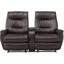 Java Felicia Space Saver Recliner Loveseat, with Console thumb