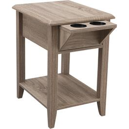 1 Shelf Dirtwood Rectangular Chairside Table thumb