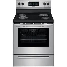 "30"" Stainless Steel Self Cleaning Coil Top Electric Range thumb"