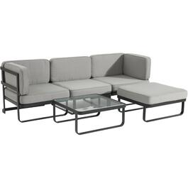 5 Piece Bali Sectional Set, with Cushions thumb