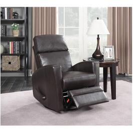Dark Brown Swivel Space Saver Glider Recliner thumb